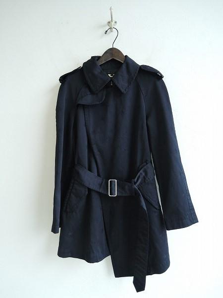コムデギャルソン COMME des GARCONS Star Jacquard Trench Coat スタージャガードトレンチコート XS【中古】【10I91】【高価買取中】【店頭受取対応商品】