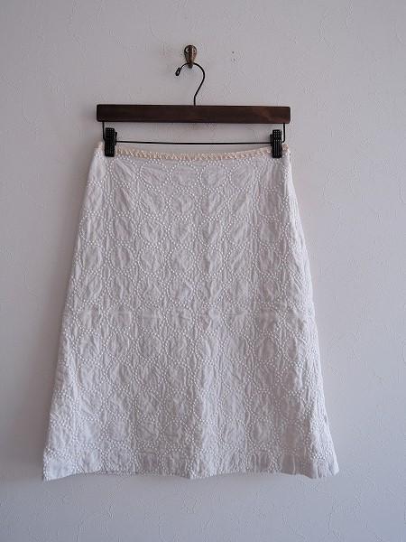 ミナペルホネン mina perhonen tambourine 刺繍スカート 1【中古】【90I91】【高価買取中】【店頭受取対応商品】