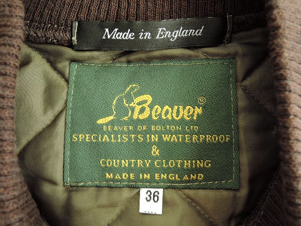 ビーバー Beaver レザーパッチリブカラーキルティングベスト 36 62J91高価買取中y7gfb6