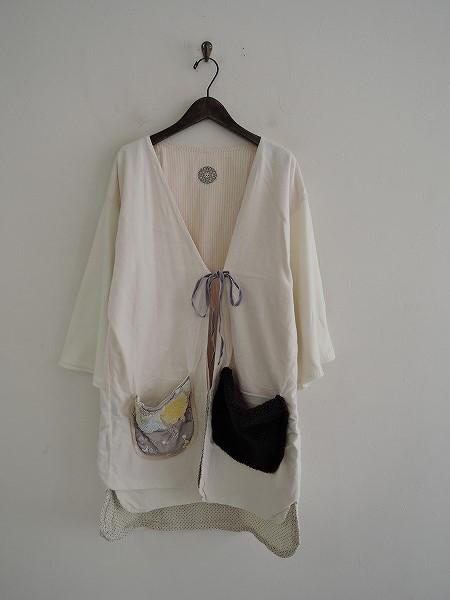 アオドレス AO DRESS デザインポケット×ニットフレアスリーブネルコート -【中古】【21J91】【高価買取中】【店頭受取対応商品】
