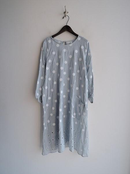 ミナペルホネンランドリー mina perhonen laundry vapor刺繍ワンピース 36【中古】【01L91】【高価買取中】【店頭受取対応商品】