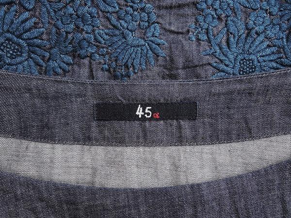 45アールピーエム R45RPM 刺繍デニムプルオーバー 0 02L91高価買取中店頭受取対応商品mN8n0vOw