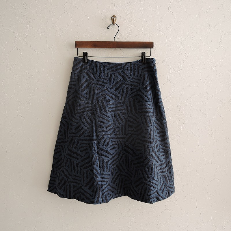 ミナペルホネンランドリー mina perhonen laundry log フレアスカート 38【中古】【22A02】【高価買取中】【店頭受取対応商品】