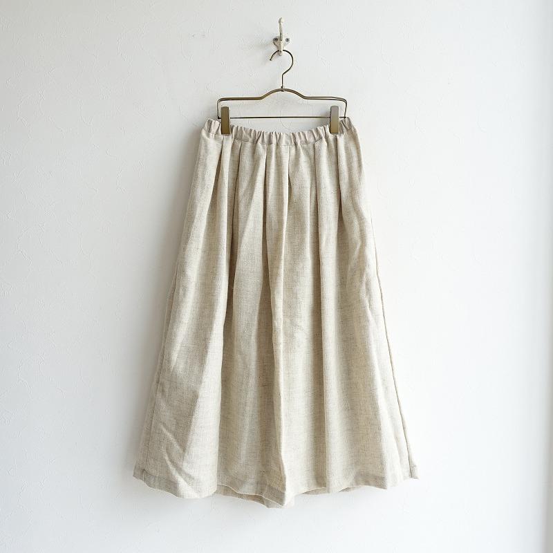 【新品】 フォグリネンワーク fog linen work gigi tuck skirt ジジ スカート -【中古】【32B02】【高価買取中】【店頭受取対応商品】