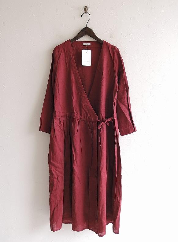 【新品】 フォグリネンワーク fog linen work lidia wrap dress リディアラップドレス -【中古】【52B02】【高価買取中】