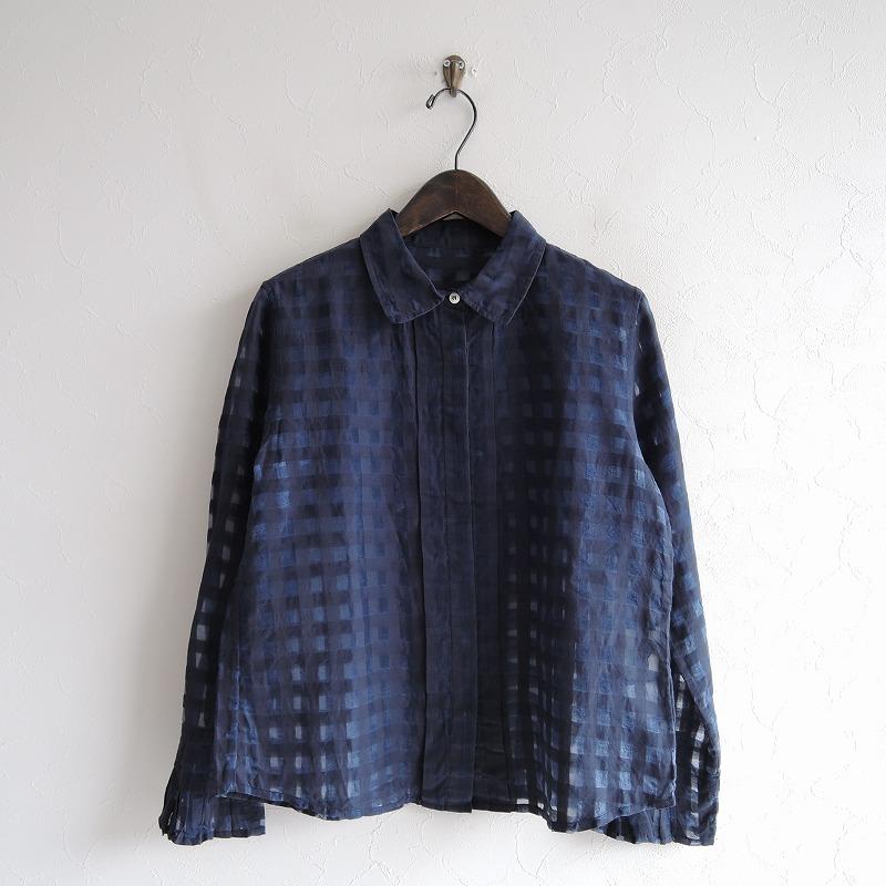 ラファーヴォラ La Favola コットンシルクチェックシャツ S【中古】【02B02】【高価買取中】【店頭受取対応商品】