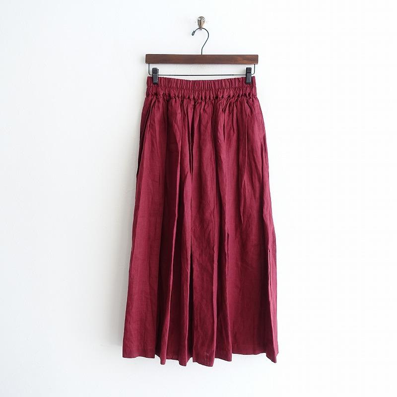 【新品】 フォグリネンワーク fog linen work stacy skirt ステーシー ギャザースカート -【中古】【02B02】【高価買取中】【店頭受取対応商品】