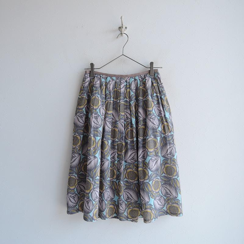 サリースコット Sally Scott フラワープリントギャザースカート 7/61-89【中古】【62C02】【高価買取中】【店頭受取対応商品】