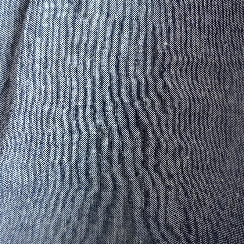 ビスクバイネストローブ bisque by nest Robe リネンシャンブレーバンドカラーシャツ03C02高価買取中店頭受取対応商品Nnvm8w0