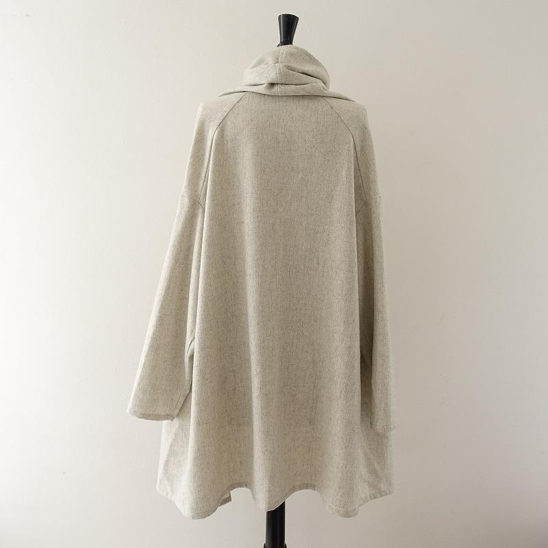 美品ミズイロインド mizuiro ind ウール混ロング羽織り31D02高価買取中店頭受取対応商品pGzUMVqS