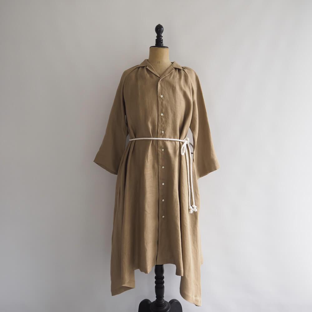 【新品】 ザファクトリー THE FACTORY Linen Dobby Gather Coat リネンドビー ギャザーコート F【31E02】【高価買取中】