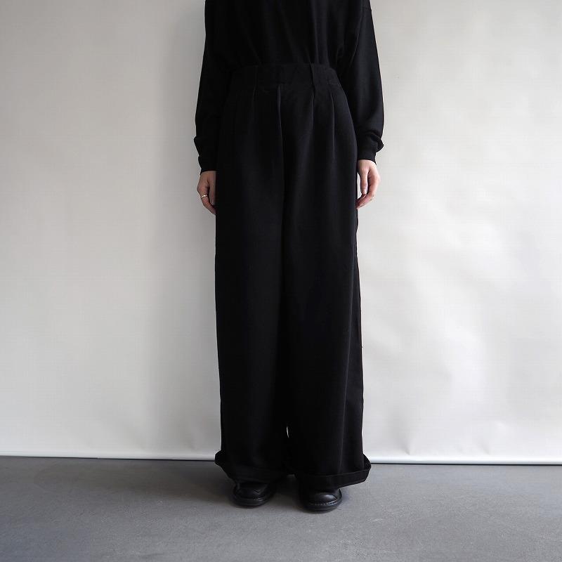 【新品】 カディー&コー Khadi and Co ENGEN SATIN WOOL PANTS ウールパンツ M【中古】【高価買取中】