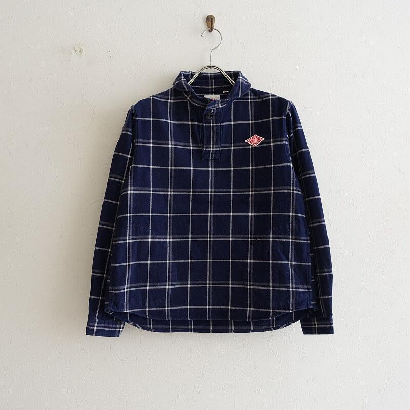 ダントン DANTON ラウンドカラープルオーバーシャツ 34【中古】【82F02】【高価買取中】