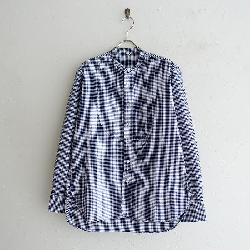 【美品】 45アールピーエム R45RPM チェックコットンスタンドカラーシャツ 3【中古】【92F02】【高価買取中】