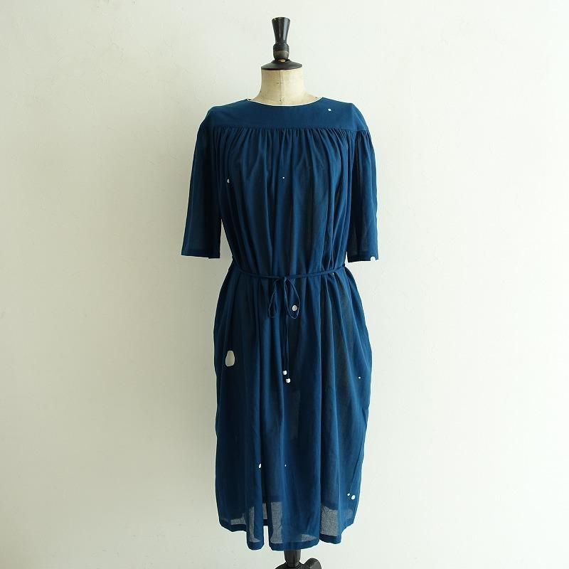 2020SS/ ミナペルホネン mina perhonen cosmosギャザードレス 40【中古】【82F02】【高価買取中】