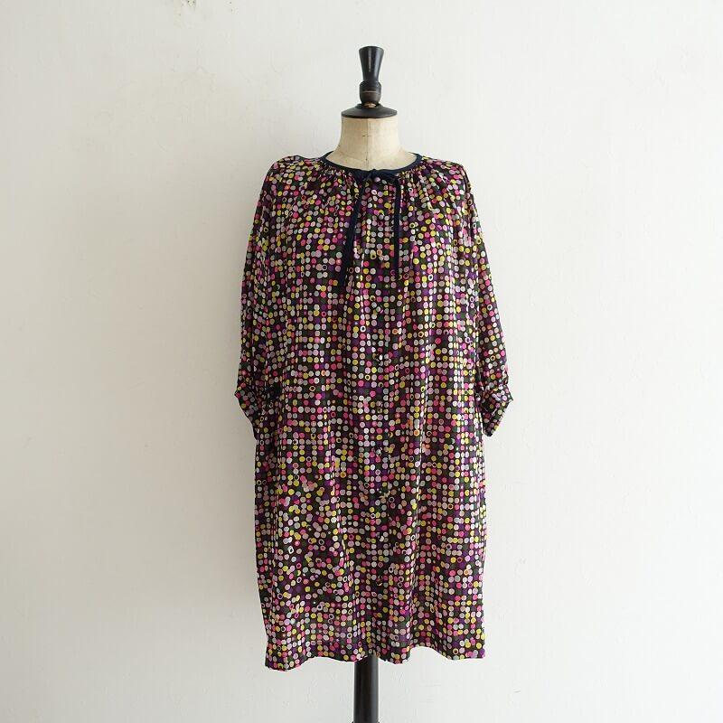 ミナペルホネン mina perhonen ceremony ウールプリントシャツドレス 36【中古】【62F02】【高価買取中】