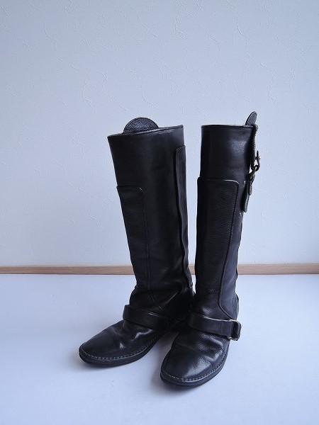 Pippi ピッピ ベルトデザインレザーロングブーツ size23【中古】【高価買取中】【店頭受取対応商品】