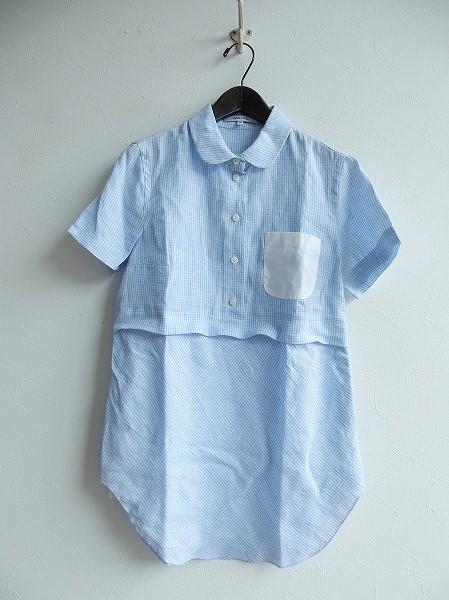 カルヴェン CARVEN コットンギンガムチェック切り替えシャツ size36【中古】【高価買取中】【店頭受取対応商品】