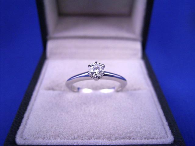 :ティファニー F VVS1 プラチナ ダイヤモンド リング TIFFNY&Co. Pt950 【中古】