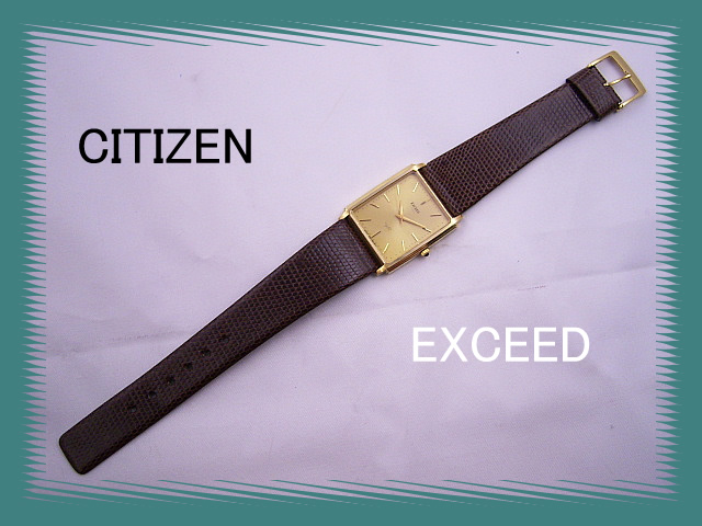 Very cheap! K18 much citizen exceed gold mens watch CITIZEN quartz