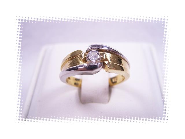 :良質 ダイヤモンド リング K18 プラチナ #10号 【中古】