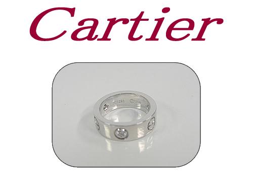 :カルティエ ラブリング WG ハーフダイヤモンド リング Cartier【中古】