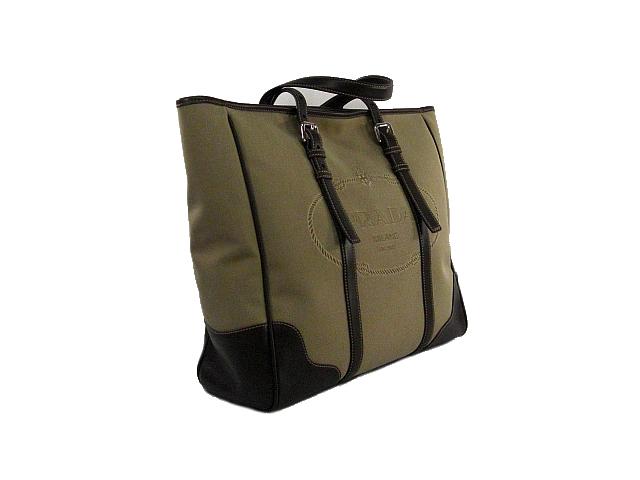 :PRADA プラダ VA0641 ロゴジャガードライン トートバッグ  バッグ 美品【中古】
