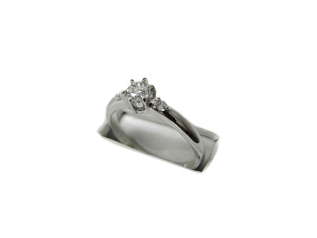 :プラチナ 立爪 良質 ダイヤモンド リング #11.5号 指輪 Pt1000 【中古】