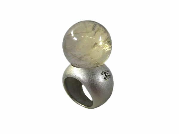 :シャネル 水晶 リング CHANEL 指輪【中古】