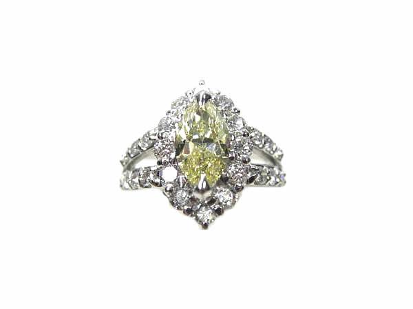 :プラチナ ダイヤモンド (1.902ct) リング Pt900 ダイヤ 指輪 【中古】