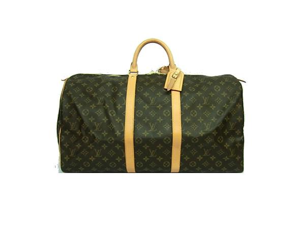 ☆ Louis-Vuitton Monogram keepall Boston 55 back M41424 LOUIS VUITTON travel bag for