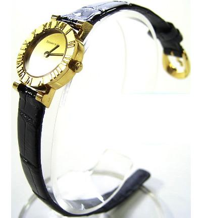 :ティファニ-腕時計 アトラス K18YG ゴールド レディース クォーツ TIFFANY & Co. 時計【中古】