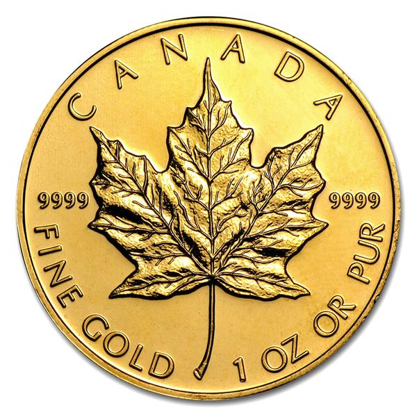 :純金 メイプル金貨 1オンス カナダ王室造幣局発行 1oz 1996年