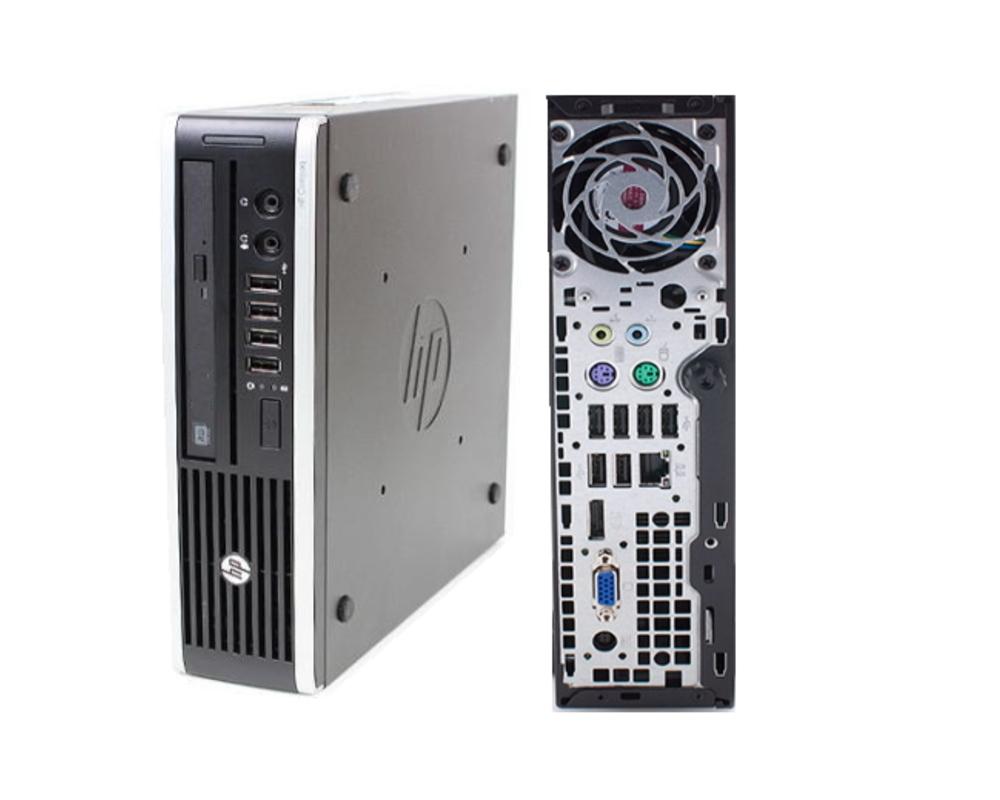 貴重 韓国語パソコン 韓国語WINDWS 7 PRO 64BIT HP 8000 超小型ディスクトップ 安心の東京工場生産品 Core2Duo 2Gメモリー 160Gハード DVD【中古】
