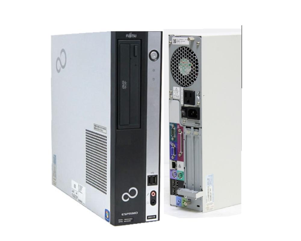 貴重!韓国語版 デスクトップ WINDOWS10 PRO クリーンインストール FUJITSU D550B 高速デュアルコア搭載 Core2 2.96G搭載 DVD RS232C シリアル パラレル 互換OFFICE【中古】