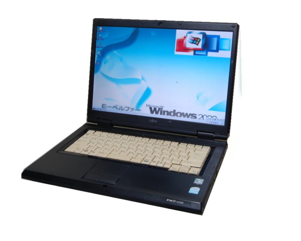 【今更ですが!Windows2000正常動作パソコン】FUJITSU(富士通)FMV-A8290/540 WIN2000 専用ソフトを動作の為に 最終動作 Core2Duo 2.53G ハード160G DVD鑑賞【中古】