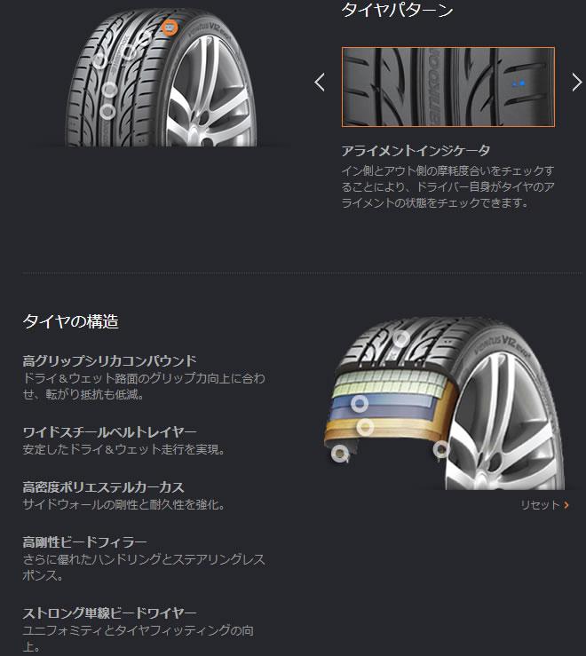 HANKOOKVENTUSV12evo2K120265/30R19(ハンコックヴェンタスV12エヴォ2K120)国産新品タイヤ4本価格