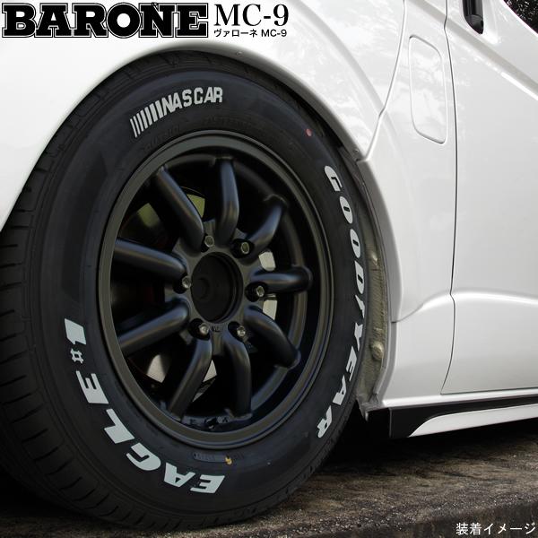 【タイヤ・ホイール 4本セット】ファブレス BARONE MC-9◆215/65R16 109/107S ホワイトレター◆16インチ 6.5J+48 6H-139.7◆タイヤ・ホイール 新品4本(1台分)セット