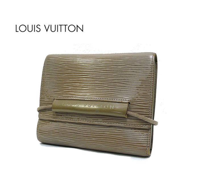【LOUIS VUITTON】ルイヴィトン エピ エラスティック ゴム付 三つ折り財布 M6346B【中古】