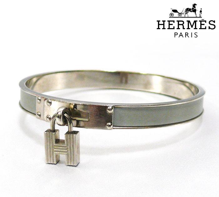 HERMES エルメス ケリー バングル ブレスレット 腕輪 グレー アクセサリー9DIeWEHY2