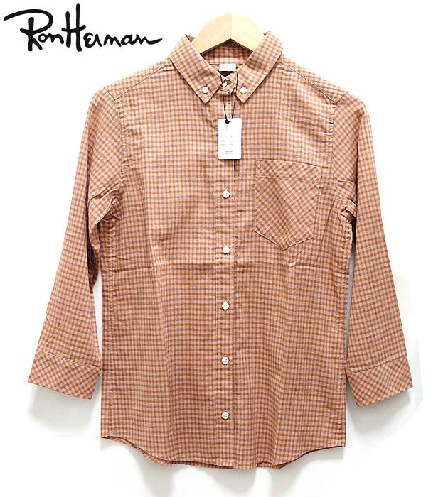 【RonHerman】ロンハーマン  ボタンダウンチェックシャツ未使用タグ付き サイズXS レディース【中古】