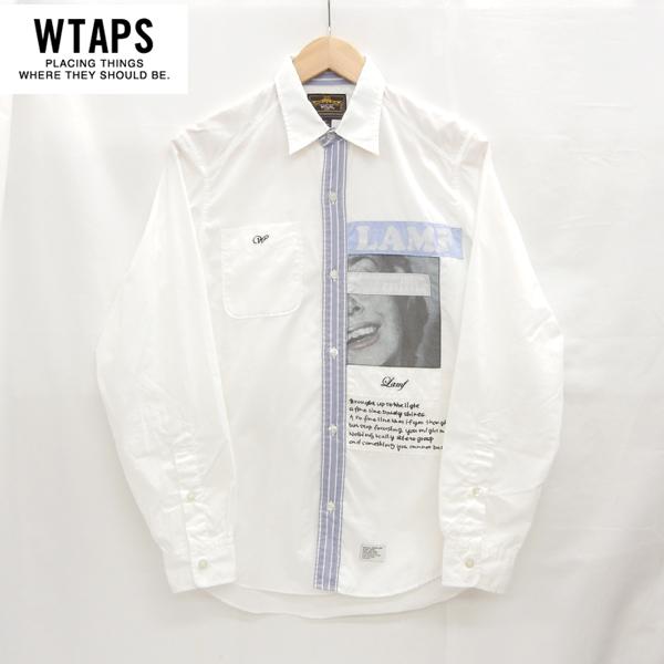 【WTAPS】FURRIES 09S/S FURRIES L/S SHIRT ダブルタップス 長袖シャツ L/Sシャツ ロングスリーブシャツ サイズS ホワイト 白 日本製 【中古】