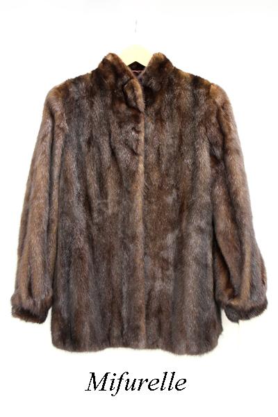 【SAGA MINK】Mifurelle サガミンク ミンクコート 6 アウター ジャケット ショート丈 コート 毛皮 【中古】