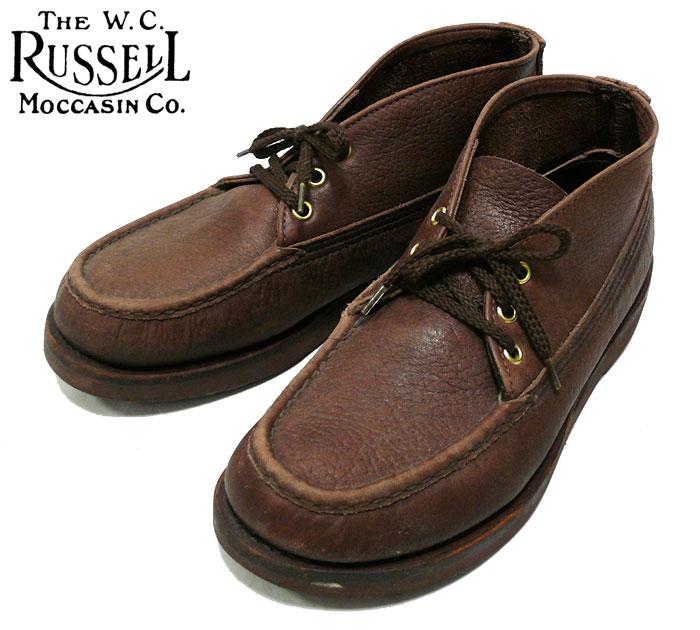 【Russell Moccasin】 ラッセルモカシン ダブルヴァンプ スポーティン クレイ チャッカブーツ サイズ27cm ブラウン 茶 靴 シューズ くつ  【中古】