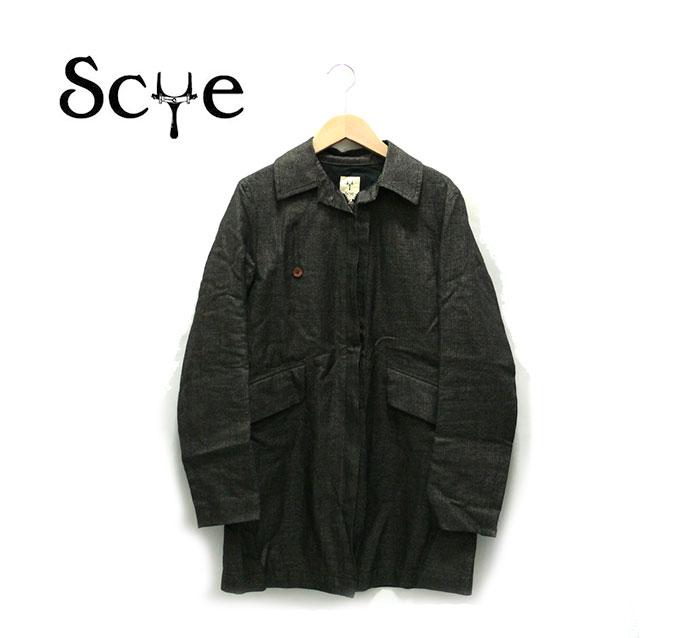 【SCYE】サイ ジップアップ コート チャコール 38 【中古】