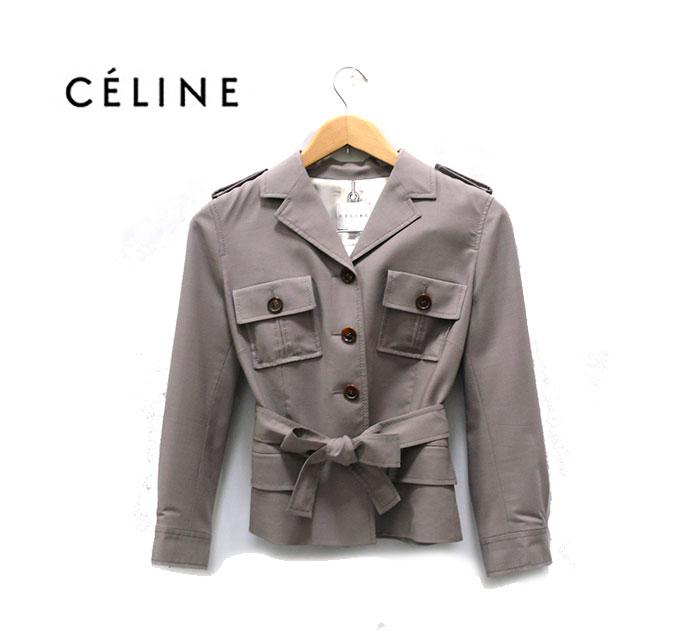 【CELINE】 セリーヌ シルク100% 2ピース 38 フランス製 【中古】