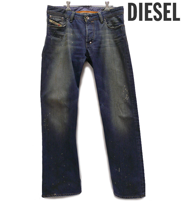 【DIESEL】ディーゼル SHAZOR ヴィンテージウォッシュデニム W33 L32 ジーンズ パンツ ブルー RA0442【中古】