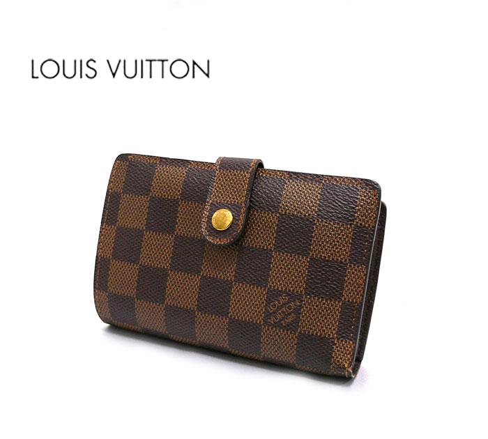 【LOUIS VUITTON】ルイヴィトン ダミエ ポルトフォイュ ヴィエノワ 二つ折り財布 がま口 お札入れ 小銭入れ サイフ N61674 RA1308【中古】