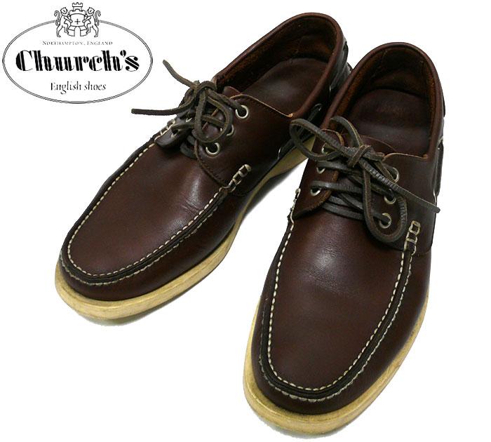 【Church's】チャーチ デッキシューズ ブラウン 茶 サイズ7 1/2  【中古】