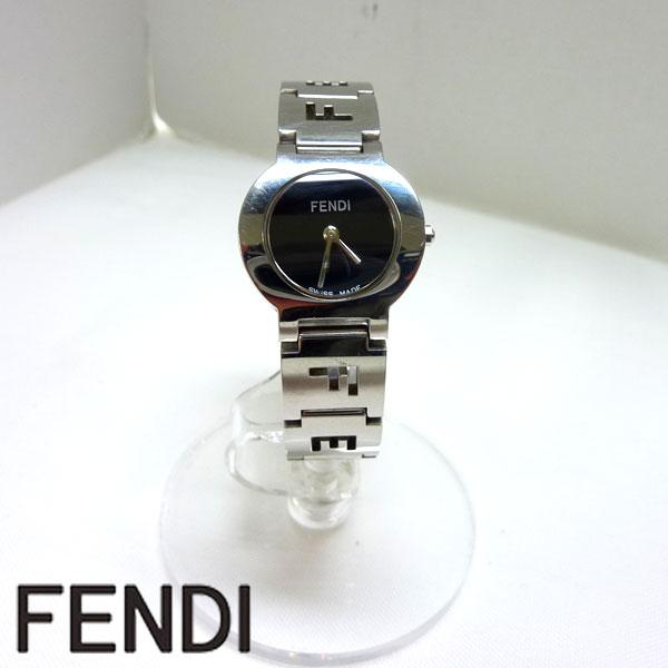 【FENDI】レディース クォーツ 黒文字盤 3050L 腕時計 【中古】